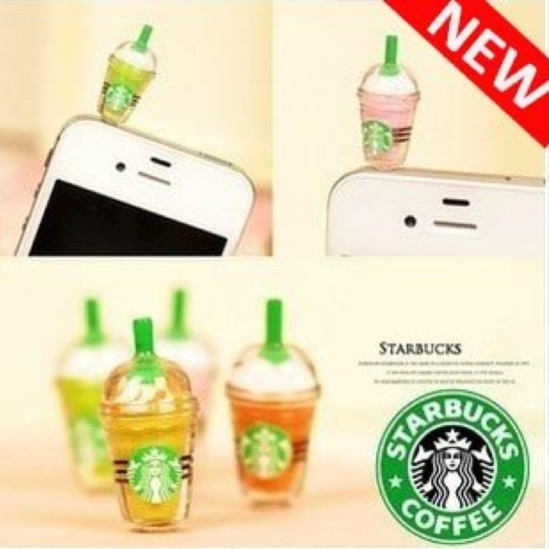 Starbucks anti-dust phone plug