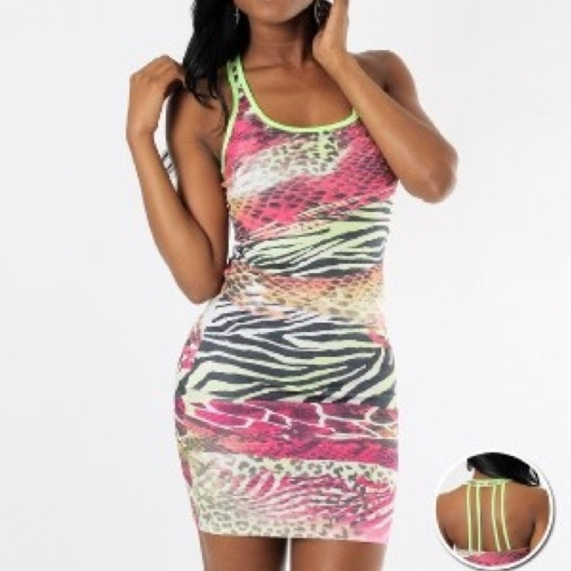Neon multicolor dress