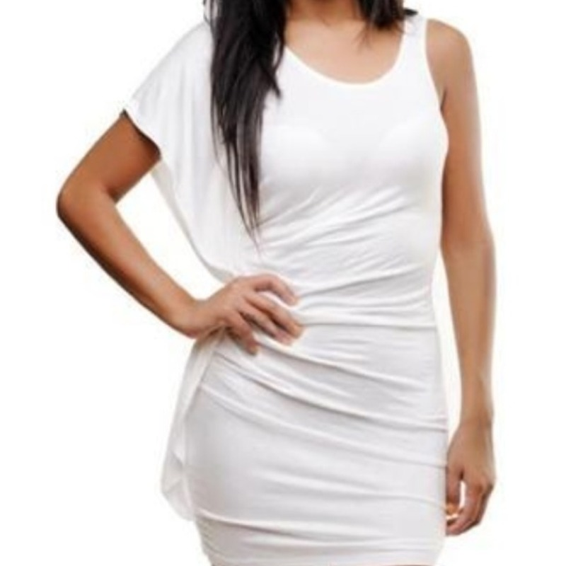 White one shoulder mini