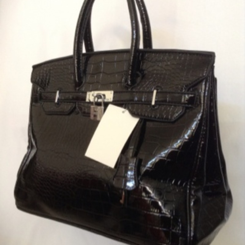 H Black Crocodile Handbag