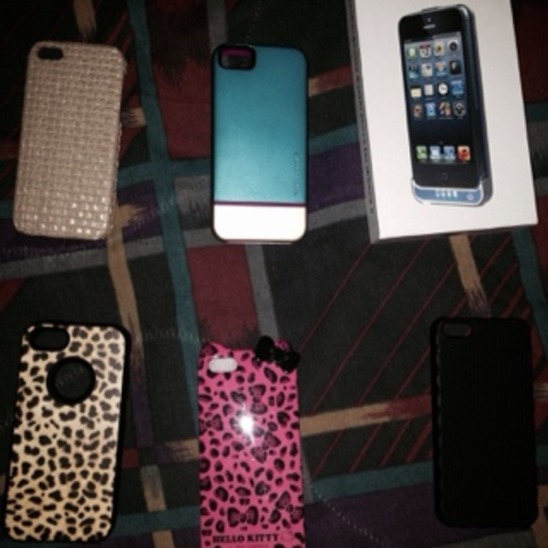 Iphone 5 cases (5$ each-15$ charger case)