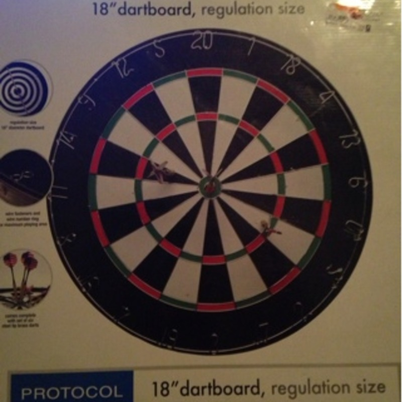 Professional-grade dartboard, Brand New!