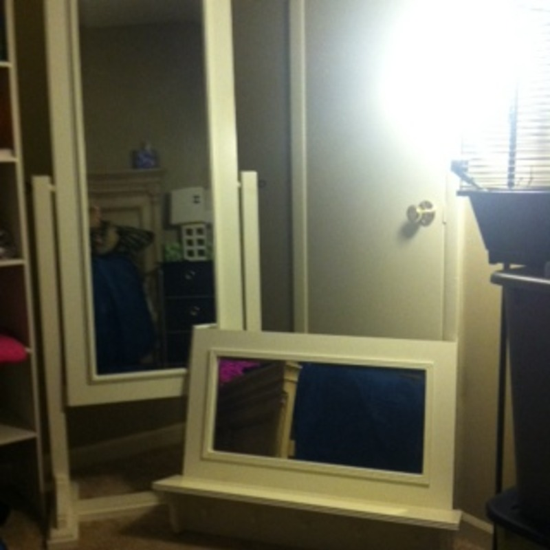 2 solid wood mirrors. Together or separate