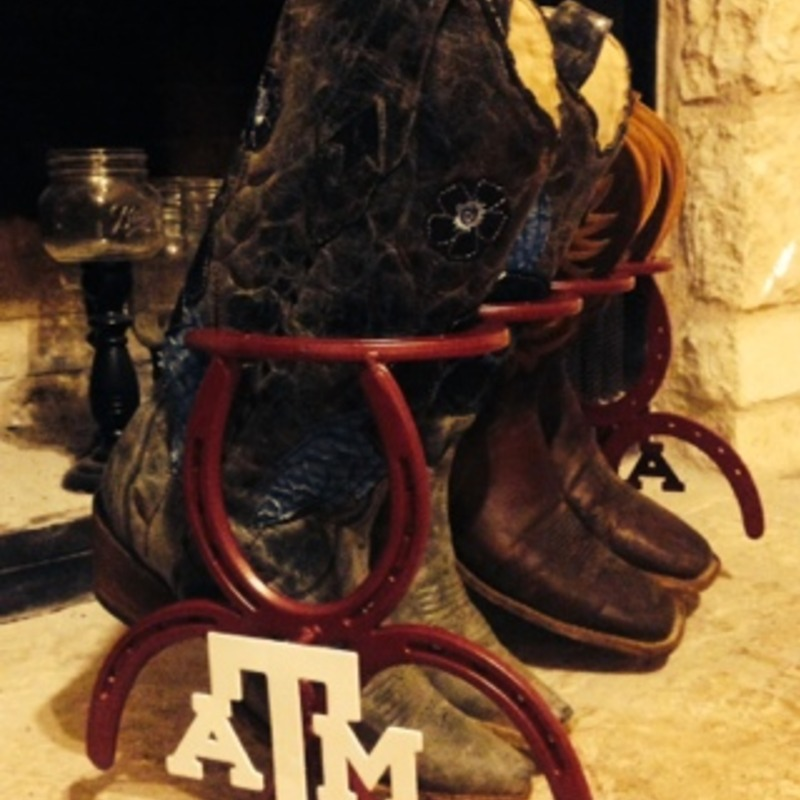 Texas A&M Boot Rack