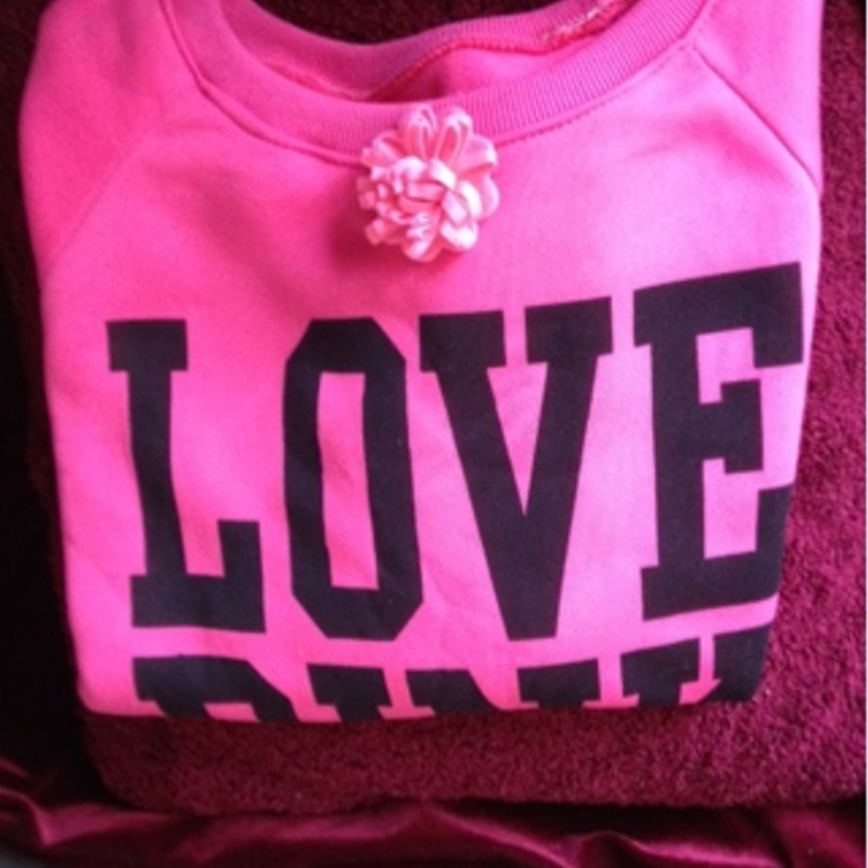 """Love Pink"" Sweatshirt Size Medium"