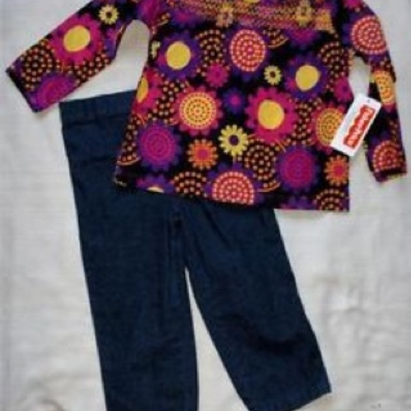 NWT girls jeans/shirt 24mo.