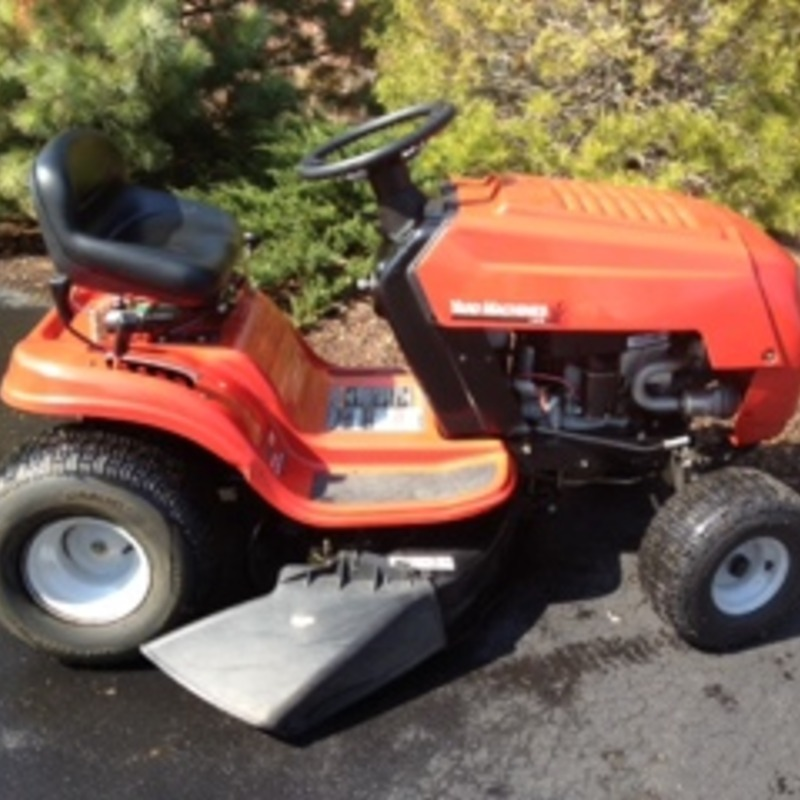 38 inch YARDMACHINE lawn mower used one year