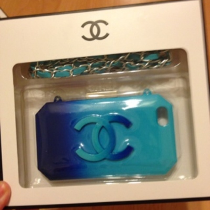 Chanel Lego iphone 5 case blue