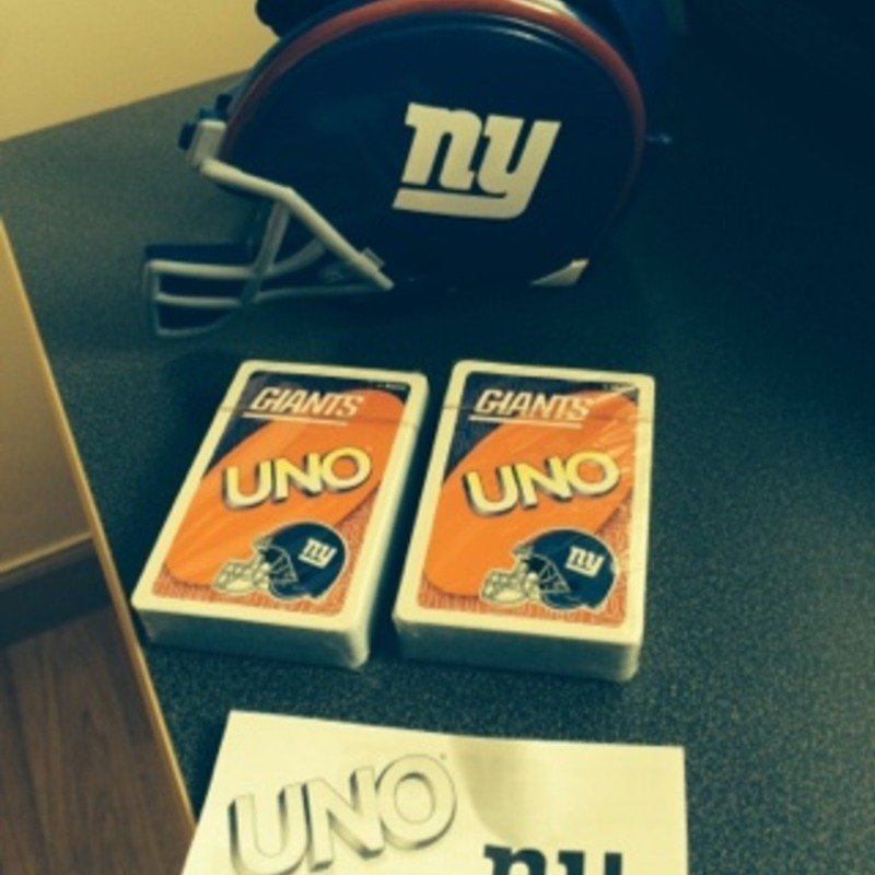 NY Giants UNO limited edition card game