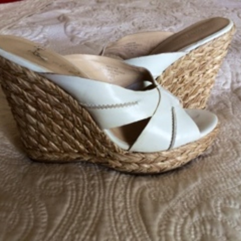 White Wedge Summer Sandles
