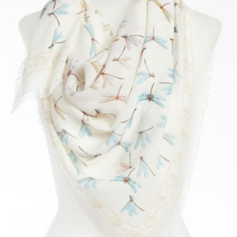 Alexander McQueen dragonflies scarf