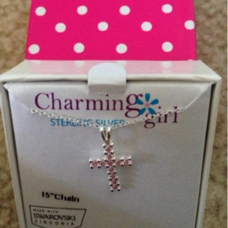 charming girl pink cross