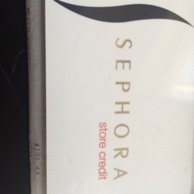 Sephora gift card $191.43
