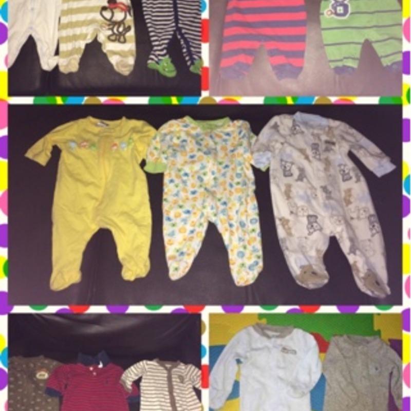 Bundle of 14 baby boy sleepers