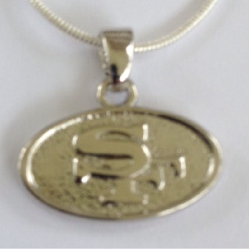 NFL San Francisco 49ers Pendant w Sterling Silver Chain Necklace FREE SHIPPING