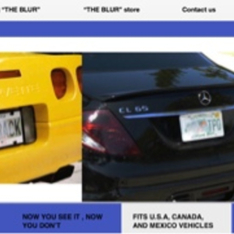 The famous photo blur license plate cover for complete privacy