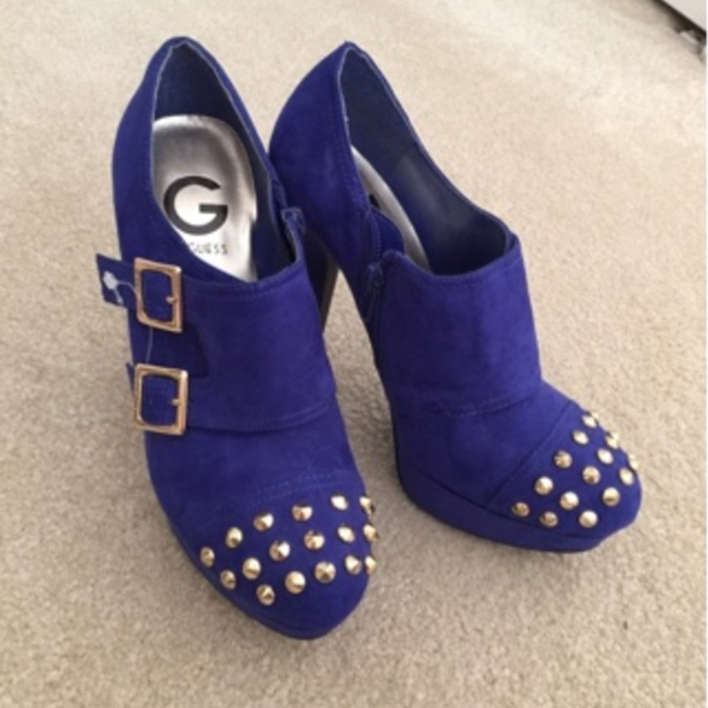 Guess Blue Suede Booties