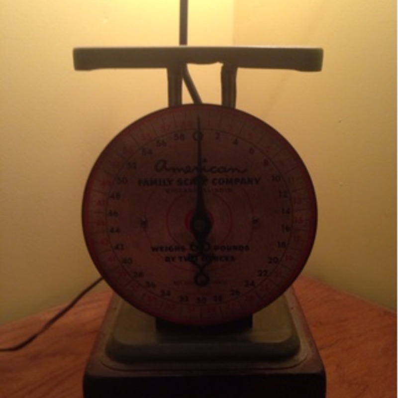 Vintage American Family Scale turned into a lamp