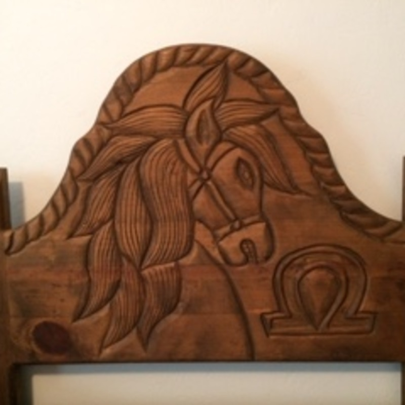 Hand Carved Twin Headboards (2)