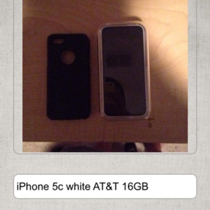 IPhone 5c white AT&T 16GB