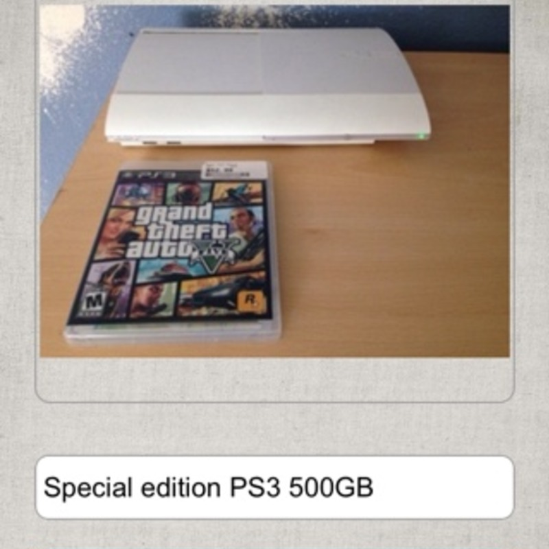 PS3 special edition 500GB