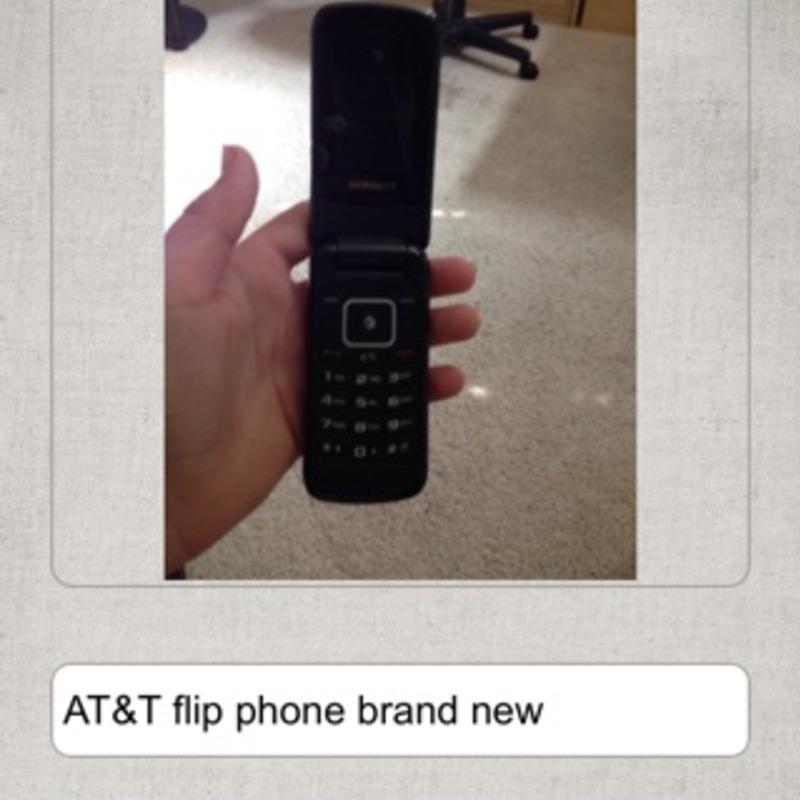 Brand new AT&T flip phone
