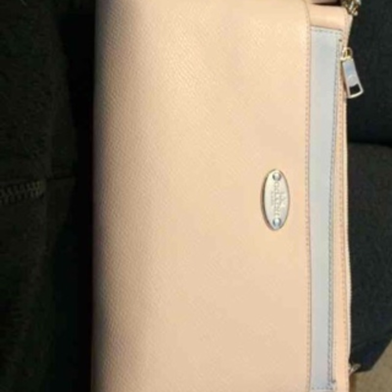 NWT apricot coach pouch