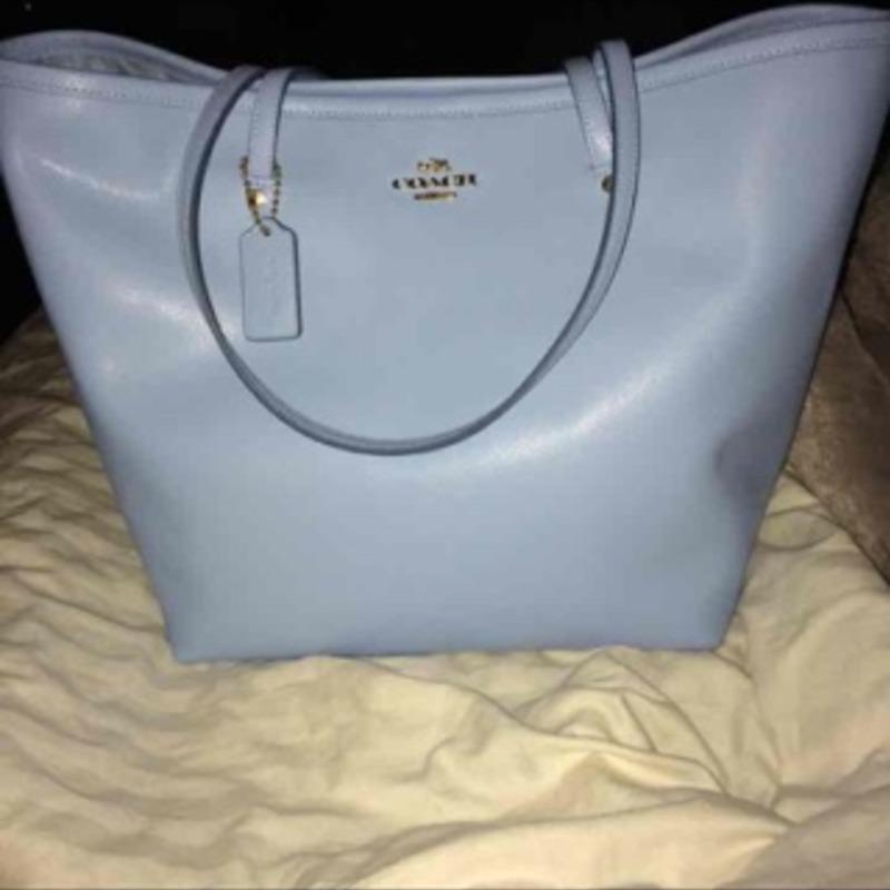 NWT pale coach purse