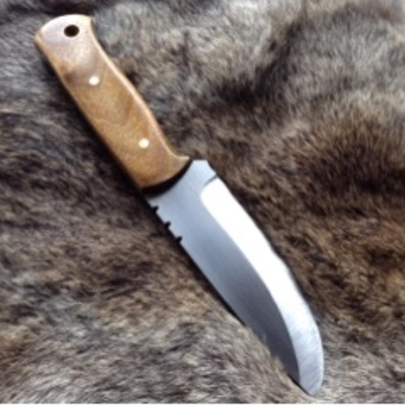 Custom Quickhatch bushcraft knife